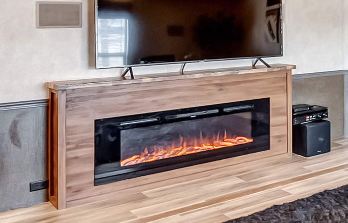 LED 60-inch Electric Fireplace (built in)