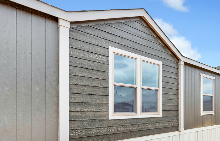 Stained Lap Siding under Dormer